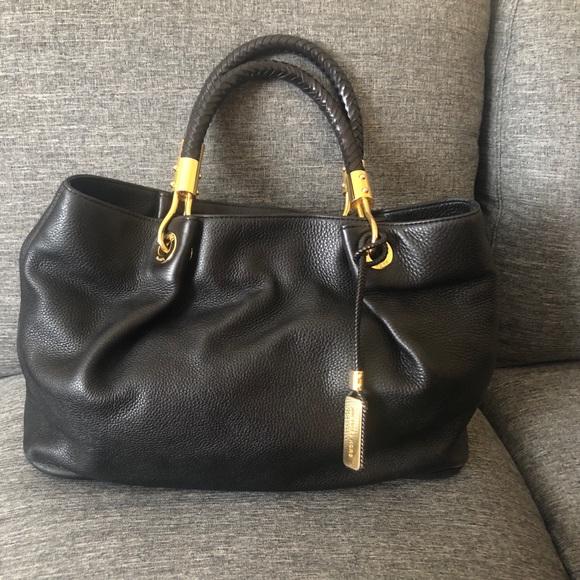 bd939594bf131b Michael Kors Bags | Skorpios Black Pebbled Leather Bag | Poshmark